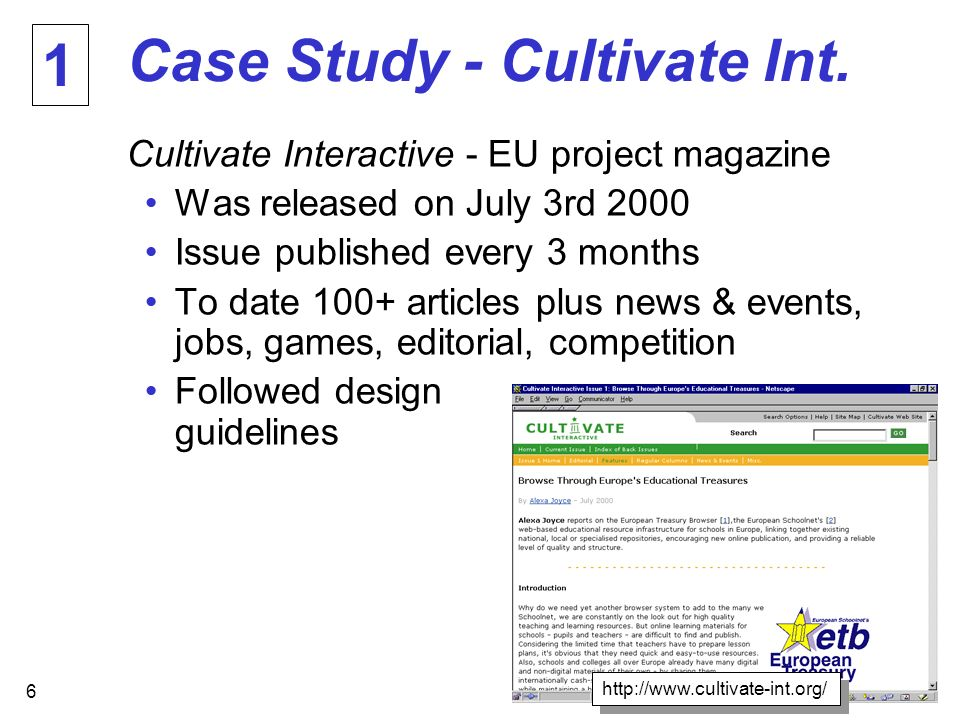 6 Case Study - Cultivate Int.