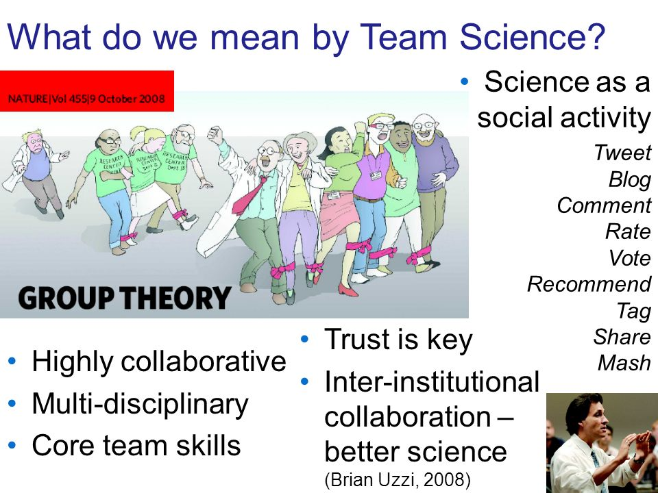What do we mean by Team Science.