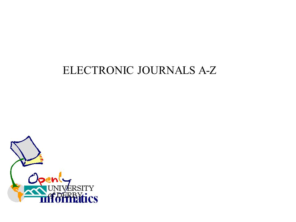 ELECTRONIC JOURNALS A-Z