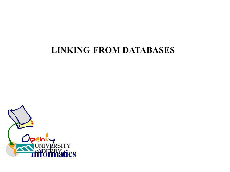 LINKING FROM DATABASES