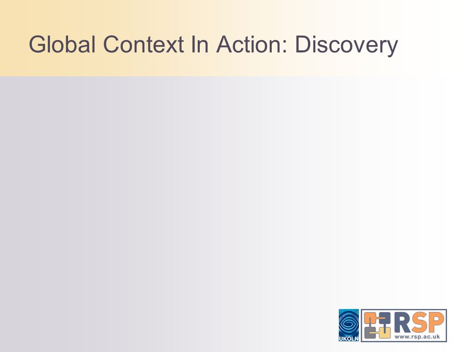 Global Context In Action: Discovery