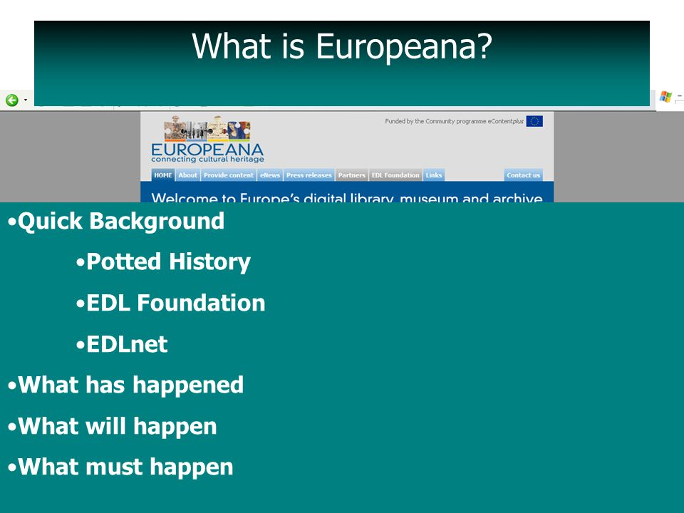 What is Europeana.