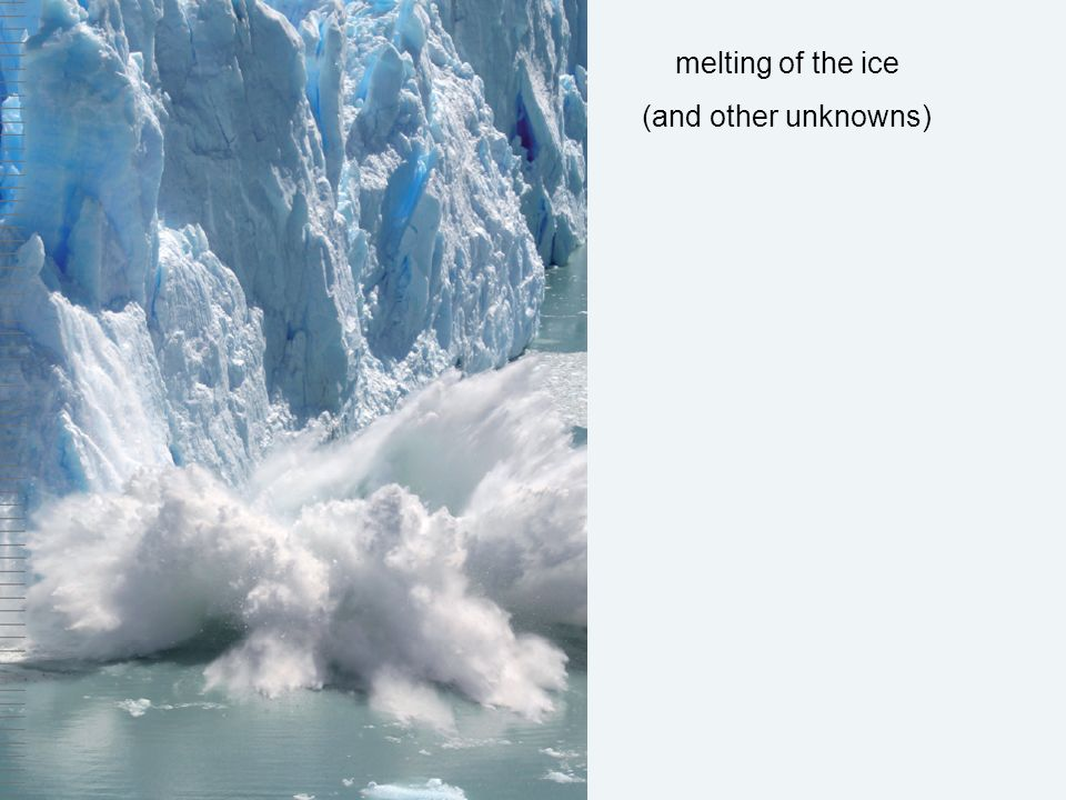 melting of the ice (and other unknowns)