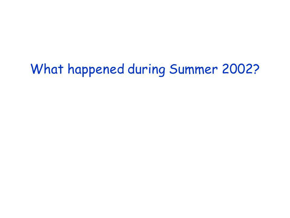 What happened during Summer 2002