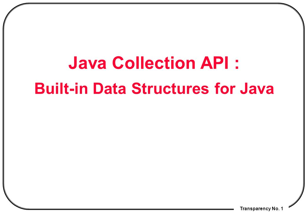 collection api in java