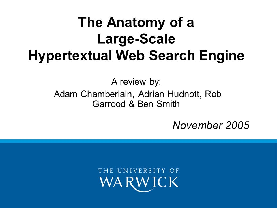 The Anatomy of a Large-Scale Hypertextual Web Search Engine A review ...