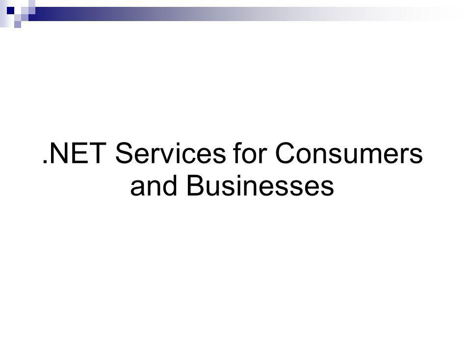 .NET Services for Consumers and Businesses