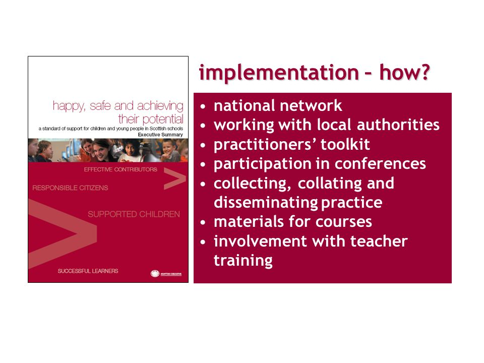 implementation – how.