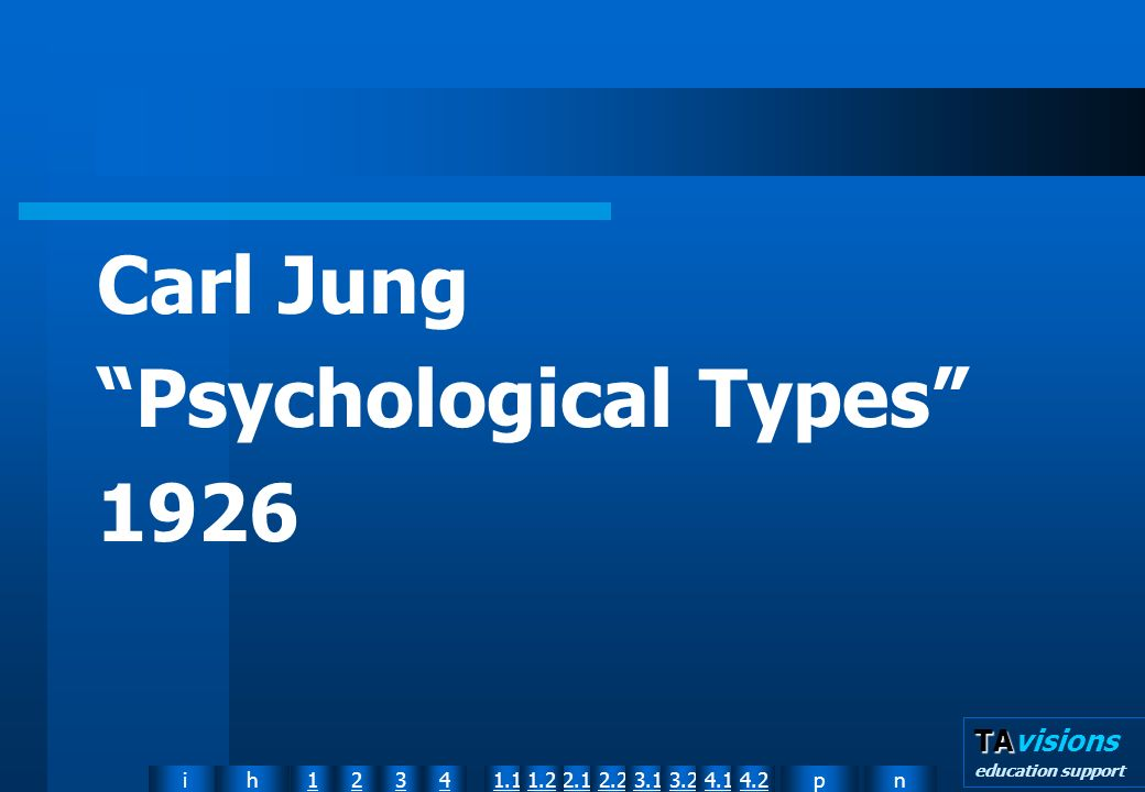 npih12341.12.11.22.23.13.24.14.2 TA TAvisions education support Carl Jung Psychological Types 1926