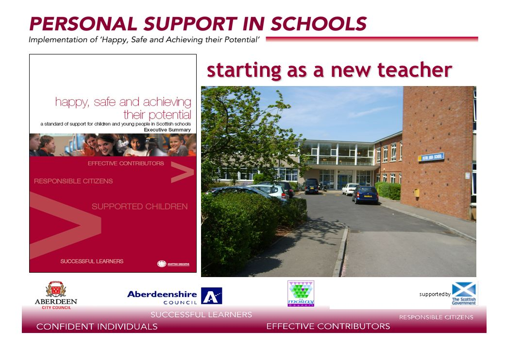 supported by starting as a new teacher