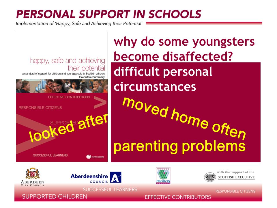 with the support of the difficult personal circumstances why do some youngsters become disaffected.