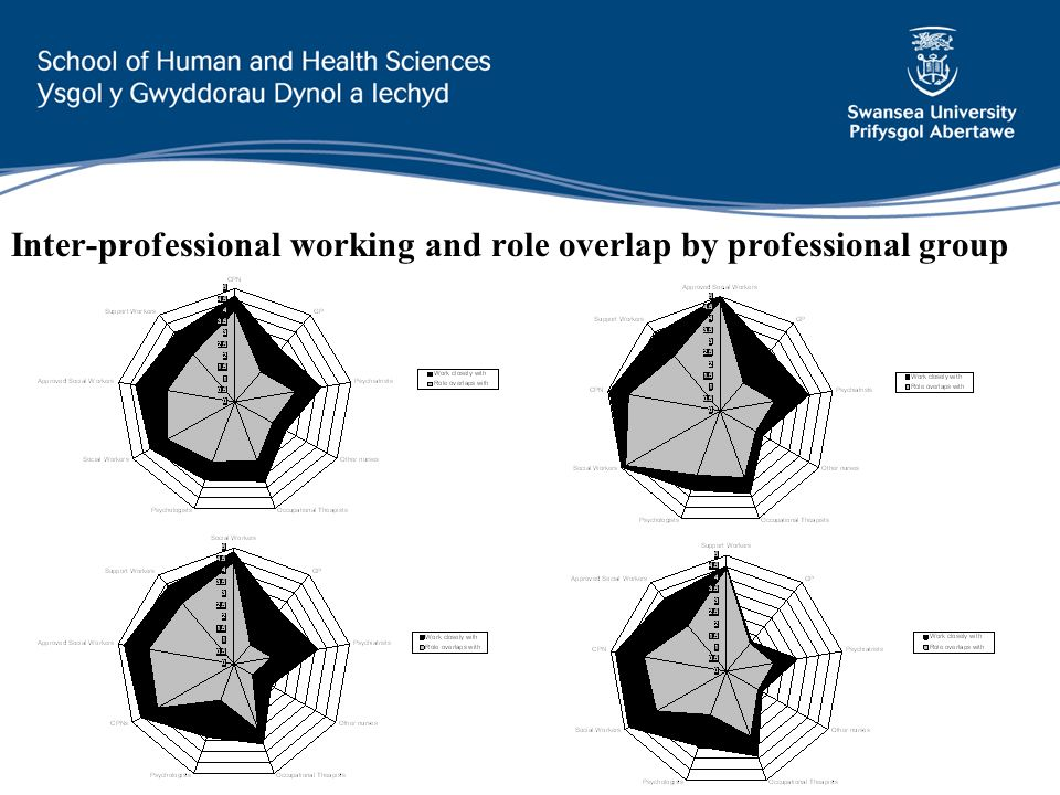 Inter-professional working and role overlap by professional group