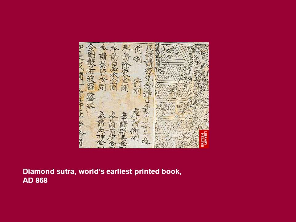 Diamond sutra, worlds earliest printed book, AD 868