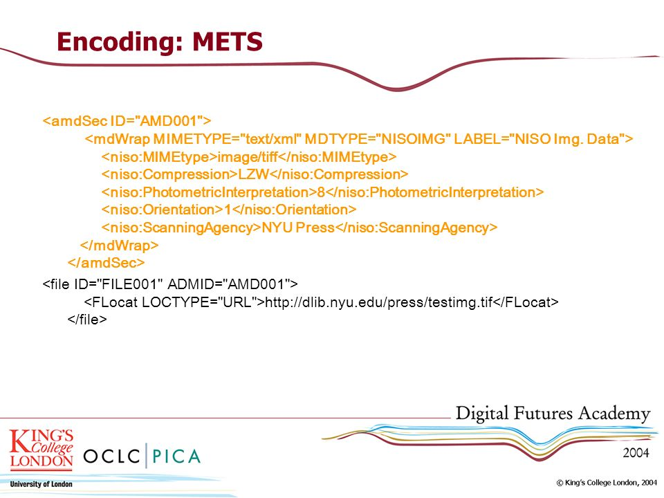 Encoding: METS image/tiff LZW 8 1 NYU Press http://dlib.nyu.edu/press/testimg.tif