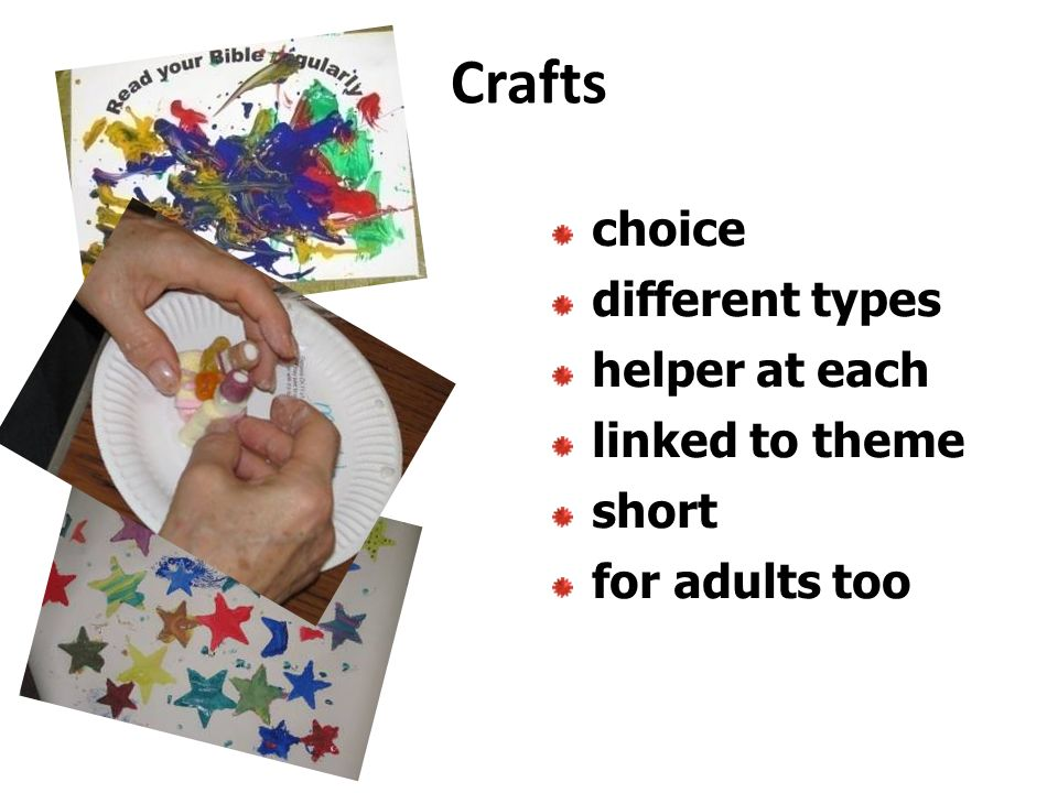 Crafts choice different types helper at each linked to theme short for adults too
