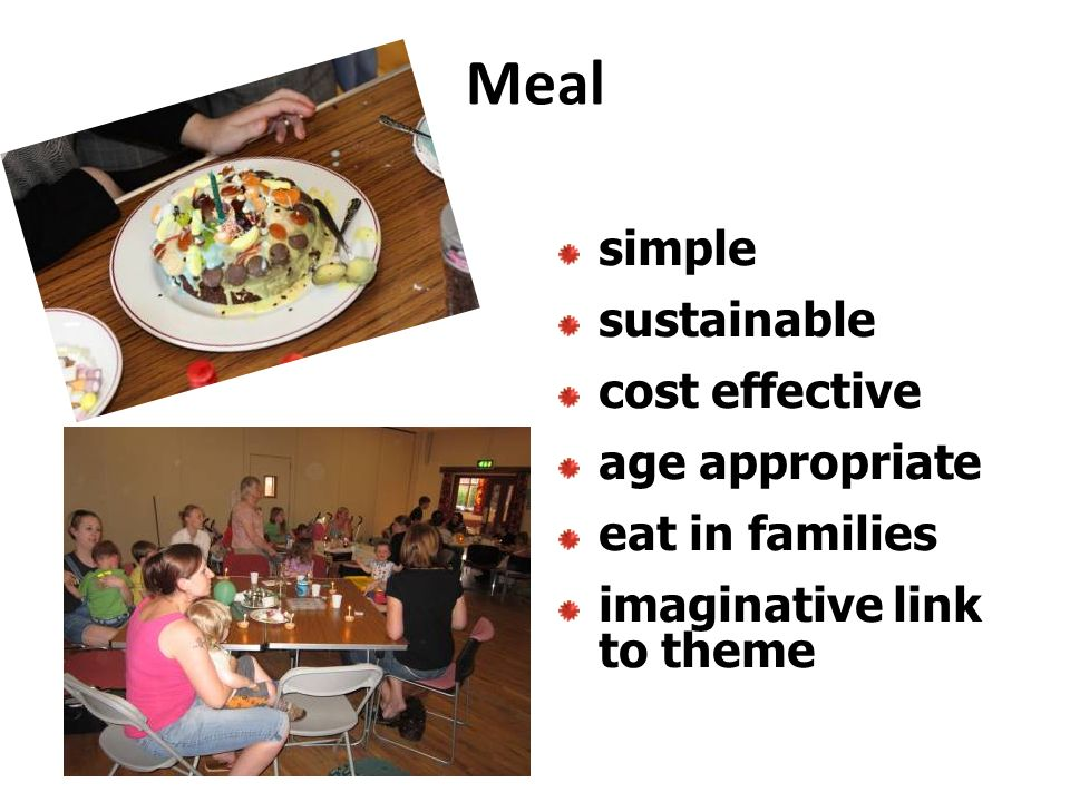Meal simple sustainable cost effective age appropriate eat in families imaginative link to theme
