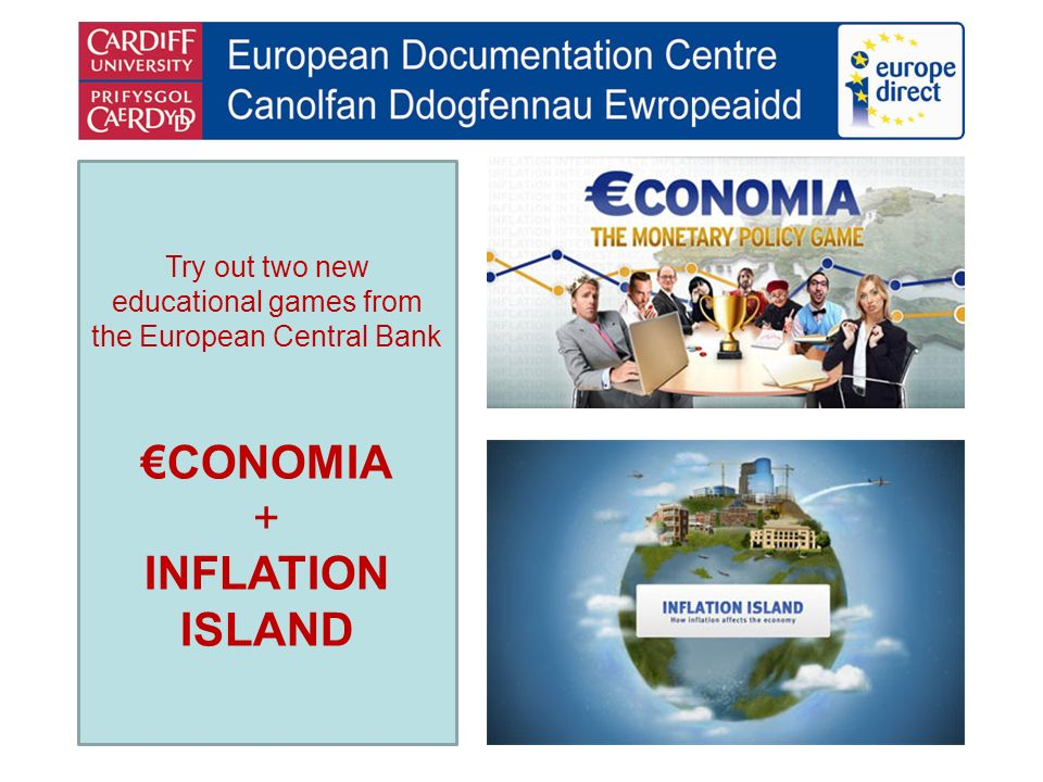 Try out two new educational games from the European Central Bank CONOMIA + INFLATION ISLAND