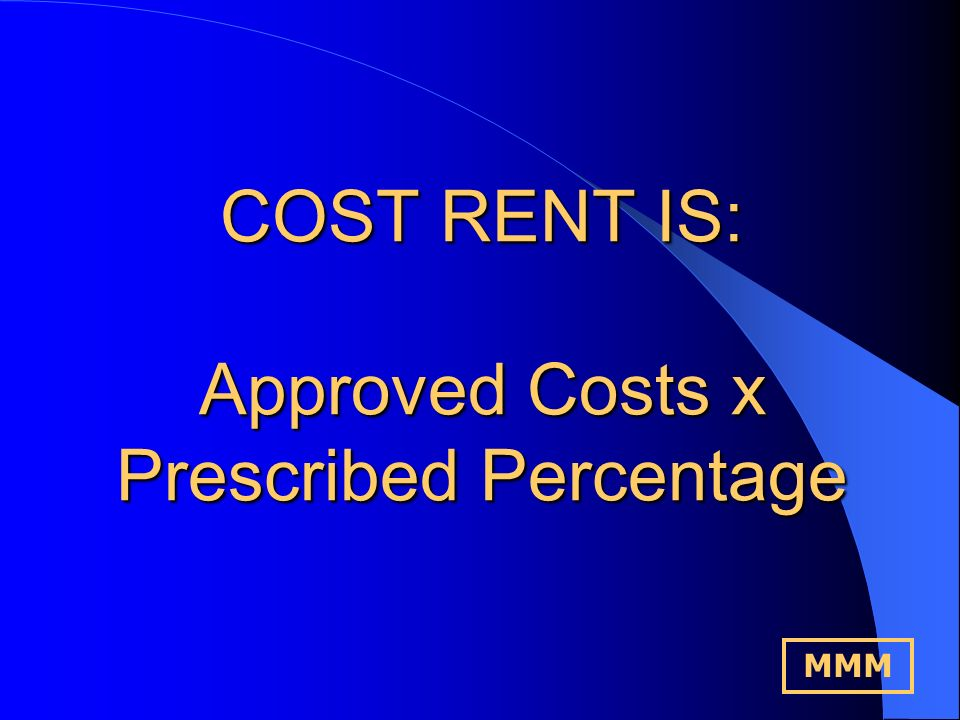 Medical Money Management Why was the Cost/Notional Rent Scheme Introduced.