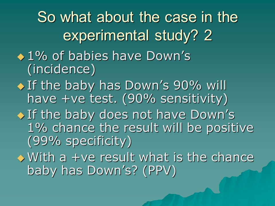 So what about the case in the experimental study.