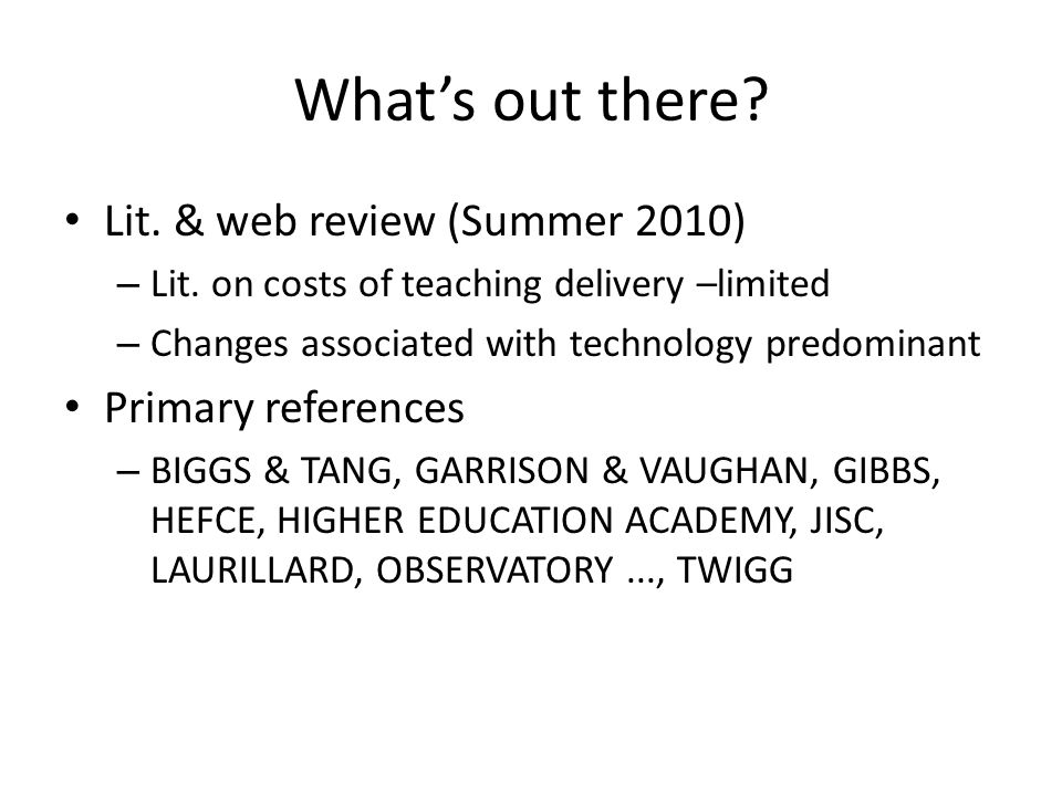 Whats out there. Lit. & web review (Summer 2010) – Lit.
