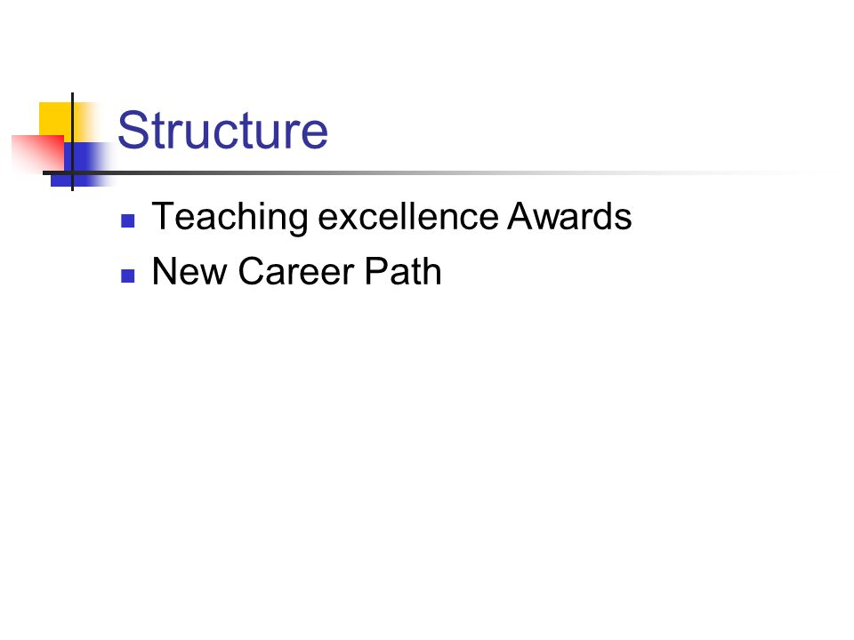 Structure Teaching excellence Awards New Career Path