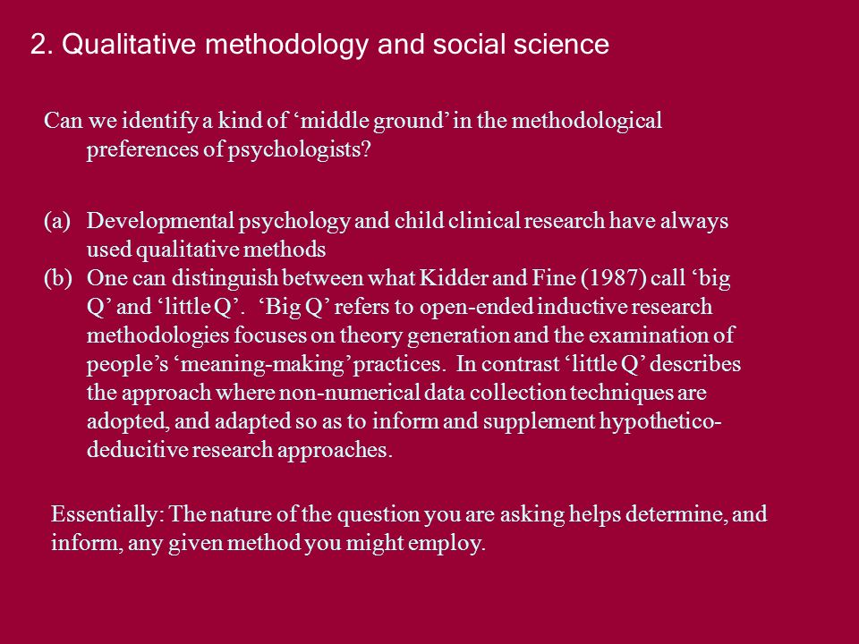 Can we identify a kind of middle ground in the methodological preferences of psychologists.