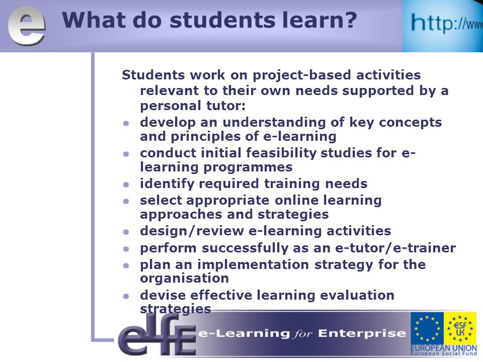 What do students learn.