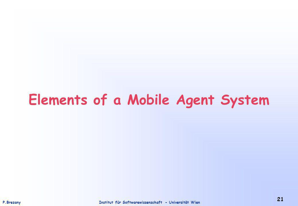 Institut für Softwarewissenschaft - Universität WienP.Brezany 21 Elements of a Mobile Agent System