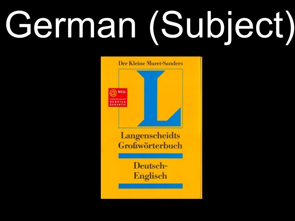 German (Subject)