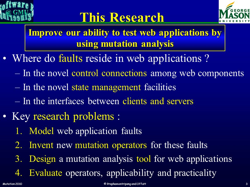 This Research Where do faults reside in web applications .