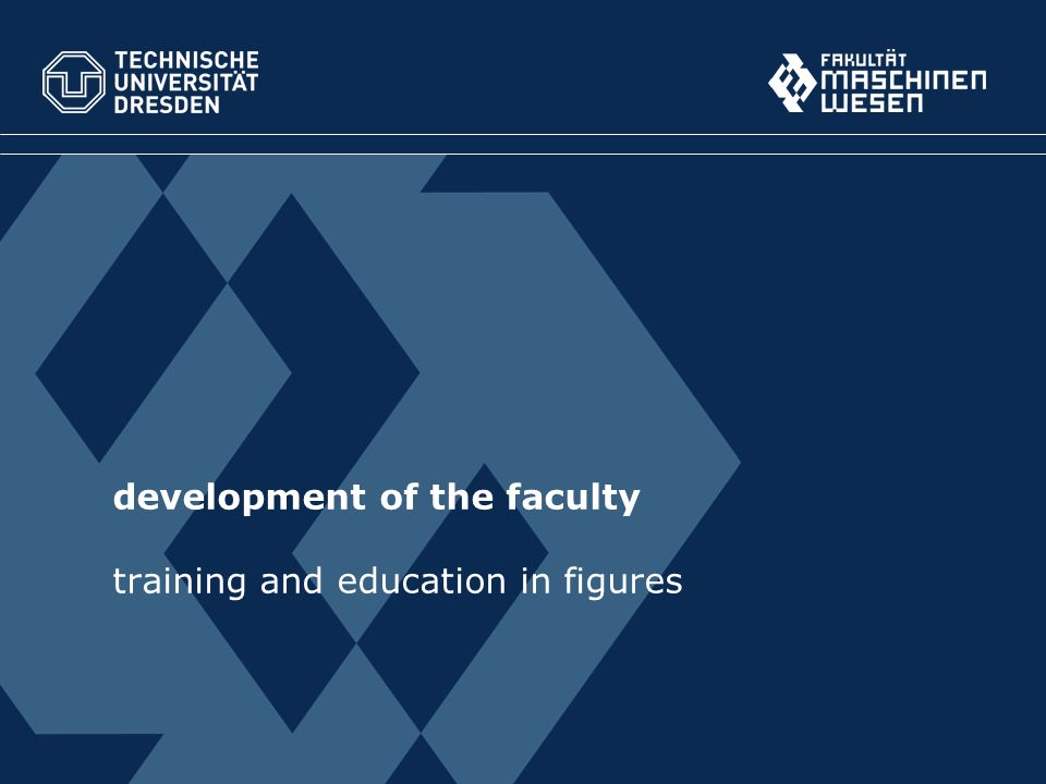 development of the faculty training and education in figures