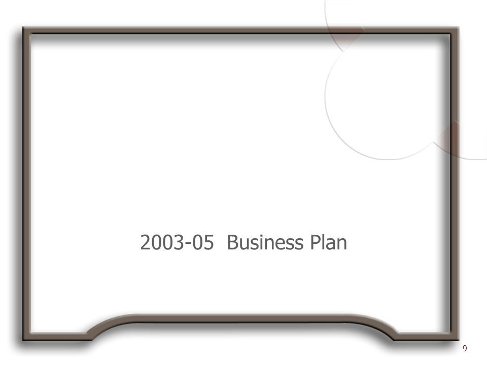 2003-05 Business Plan 9