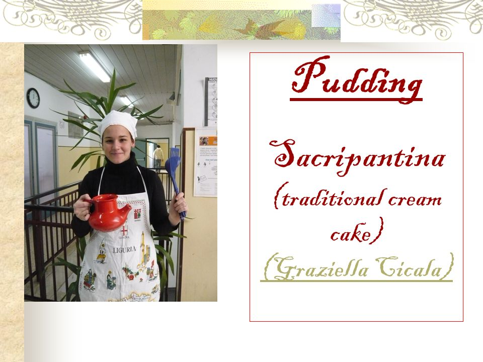 Pudding Sacripantina (traditional cream cake) (Graziella Cicala)