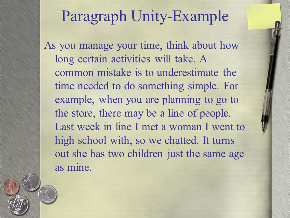 unified paragraph example