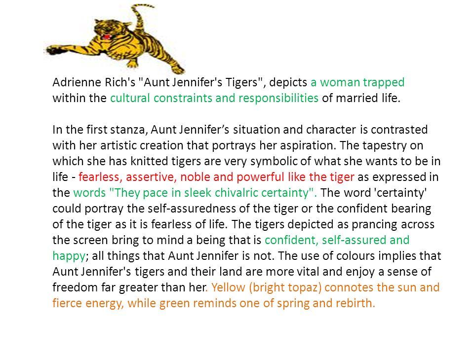 aunt jennifers tigers feminist analysis