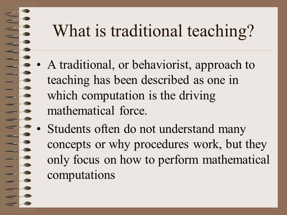 traditional approach to teaching