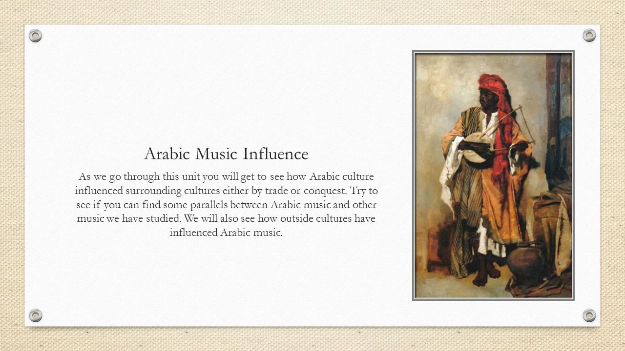 IB Arabic Music North Africa and the Middle East  - ppt download