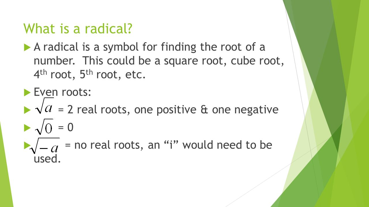 Warm Up 51 Notes Nth Roots And Rational Exponents Ppt Download
