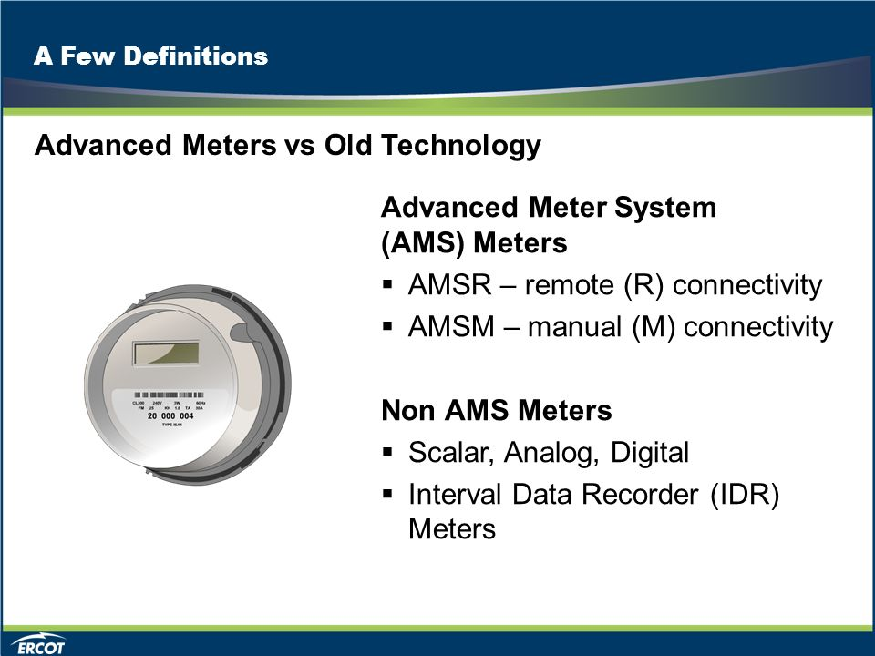 advanced metering technology Advanced metering infrastructure electric, water, and gas metering devices and applications are the first steps towards your smart grid and smart city vision we provide the most adaptive and flexible advanced meter infrastructure solution that delivers the functions and data needed to meet your specific vision for today and tomorrow.