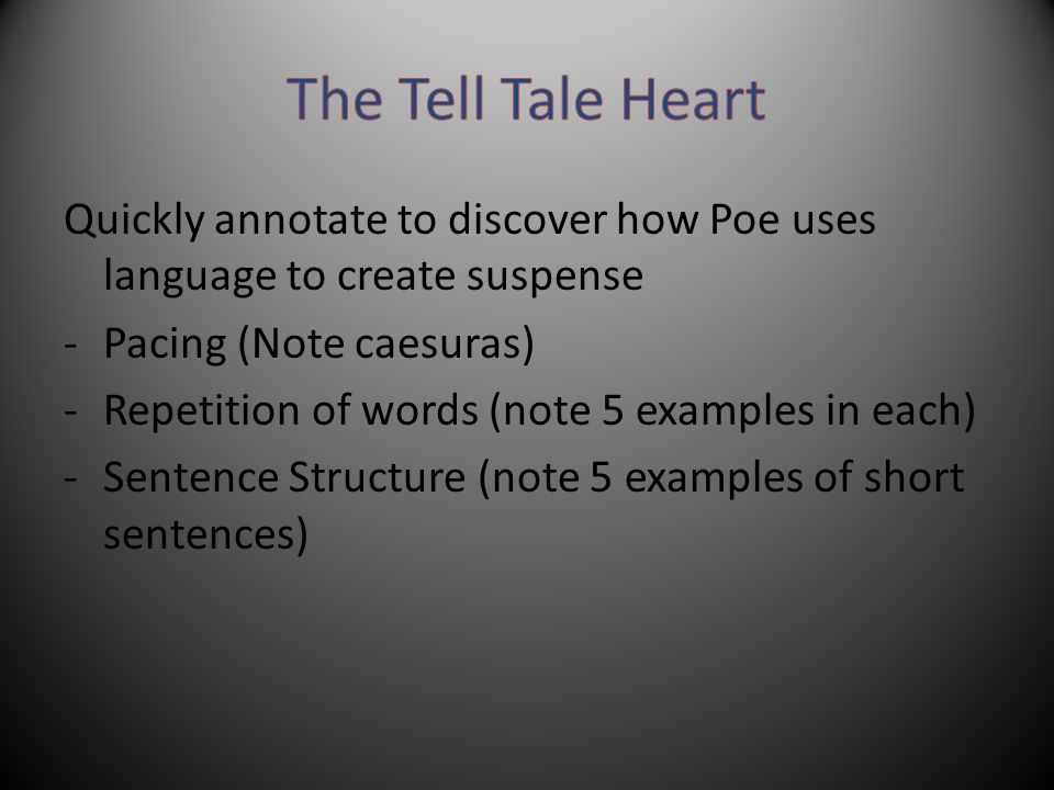 Figurative language in the tell-tale heart video & lesson.
