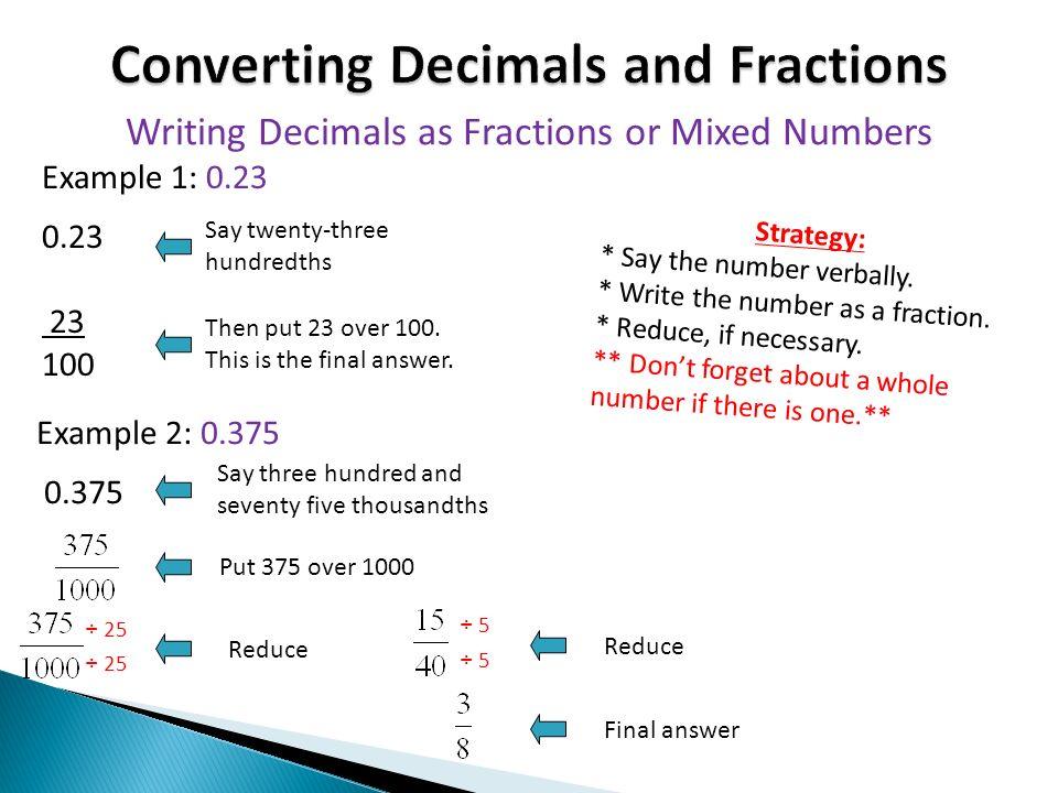 23 hundredths as a fraction