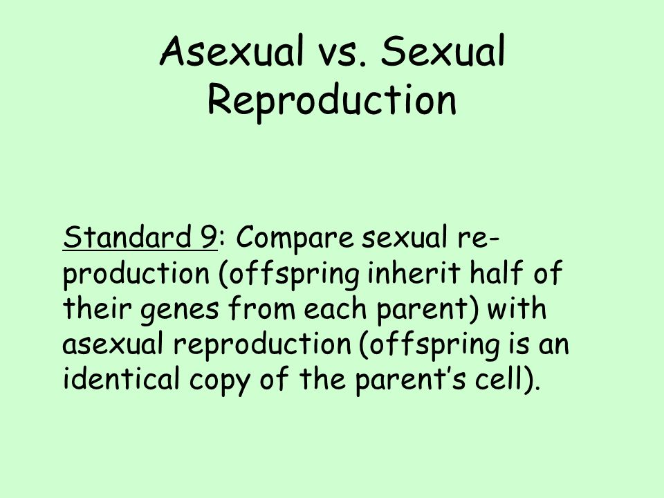 Biology Sexual And Asexual Reproduction