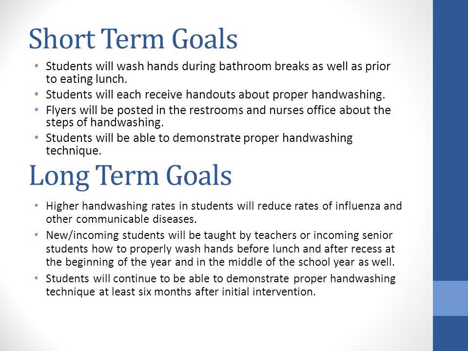 short term goals for nursing students