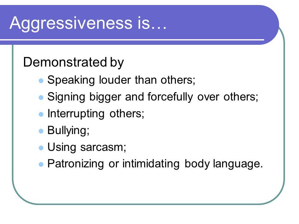 Definition of submissive behaviour