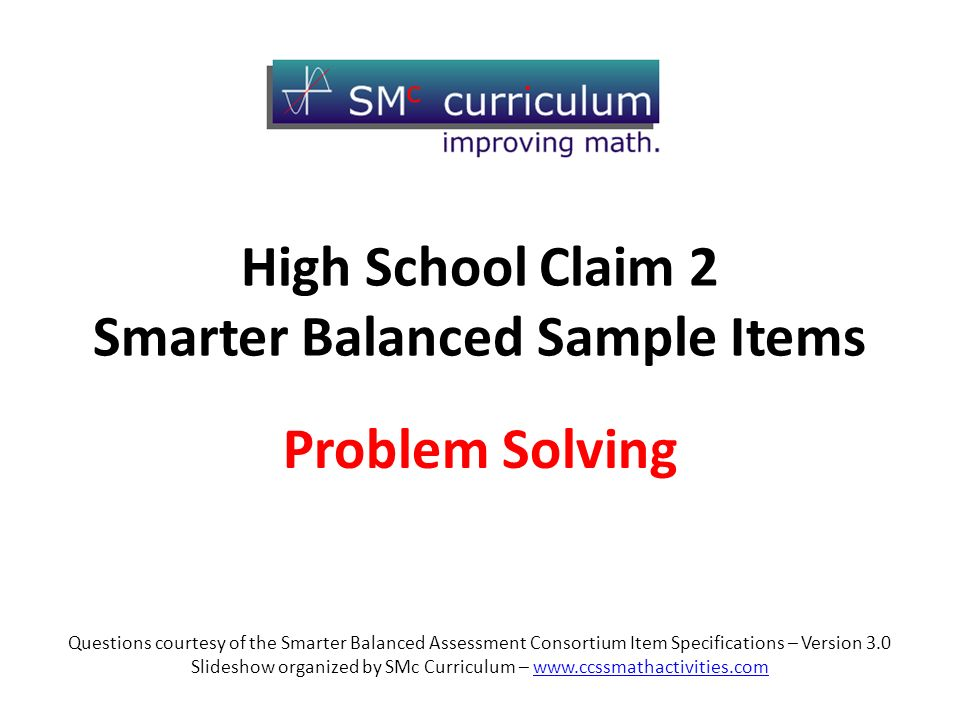 problem solving assessment sample questions