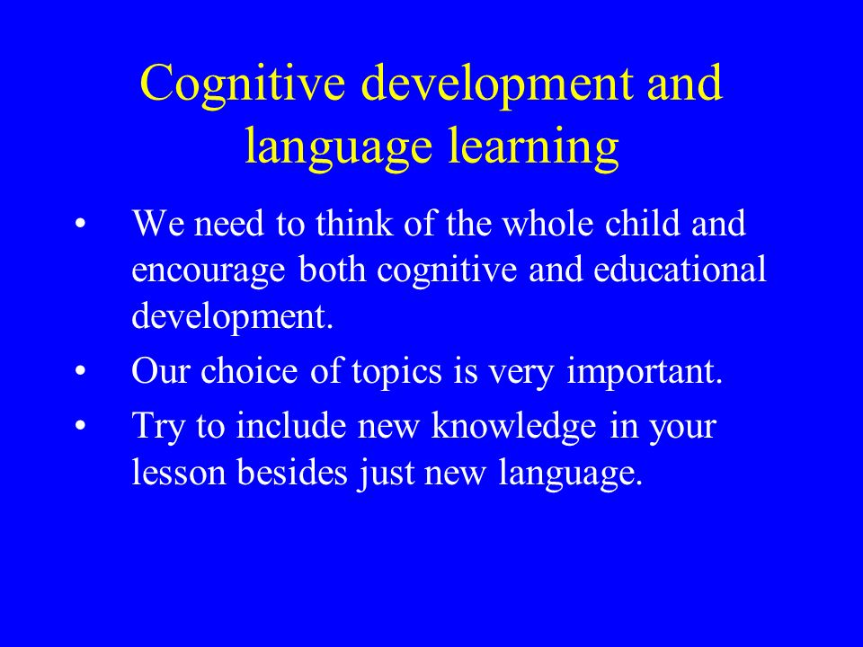 to think in language learning and education