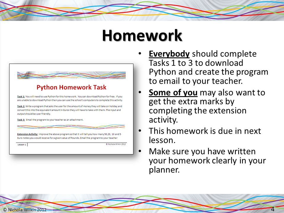 Python Lesson 1 1  Starter Create the following Excel