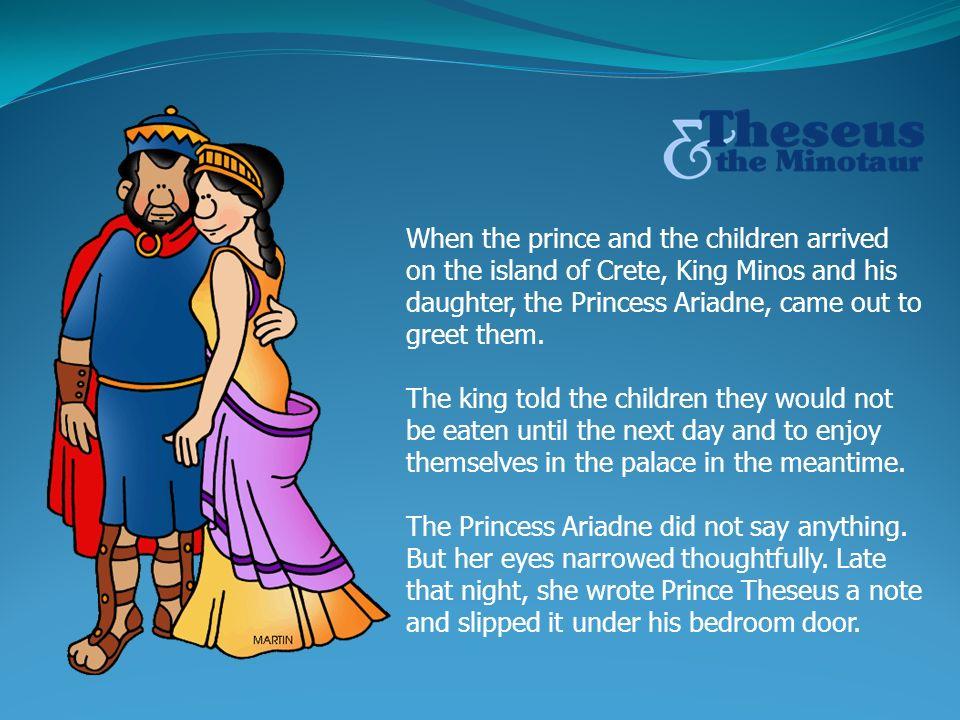 Daughter of king minos dan word