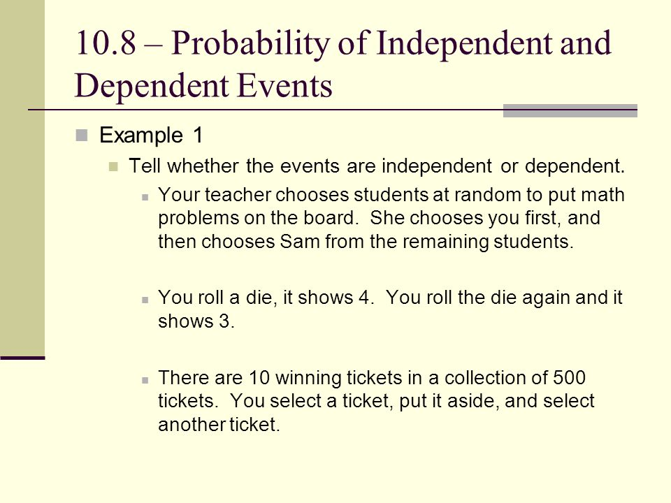 Chapter 10 – Data Analysis and Probability 10.8 ...