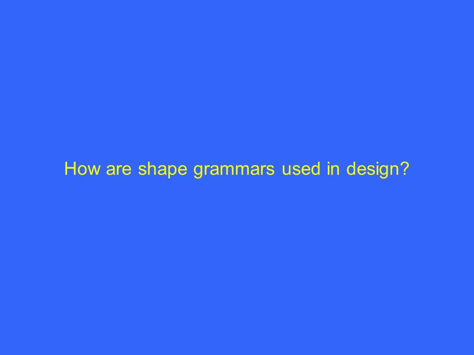 How are shape grammars used in design